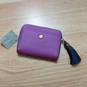 Beautiful 100% leather purple wallet